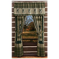 Browning Panel Bedding Collection Rod Pocket Drapes or Valance