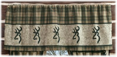 Browning Panel Bedding Collection Rod Pocket Valance - 63 x 19