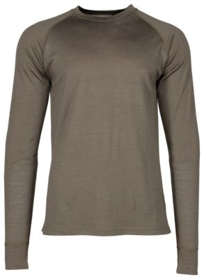 Kryvo Wool Lightweight Base Layer Top for Men – Tarmac – L