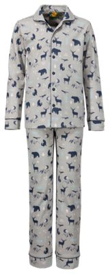 Bass Pro Shops Forest Critters Pajama Set for Toddlers - Grey/Blue - 4T