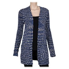 Natural Reflections Printed Open-Front Cardigan for Ladies