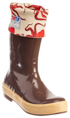Xtratuf X Salmon Sisters Octopus Print ?legacy Rubber Boots For Ladies 6m
