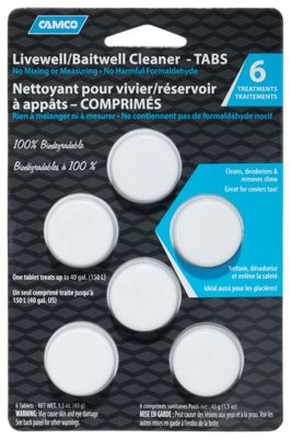 Camco Livewell/Baitwell Cleaner Tablets - White/Blue