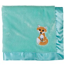 Bass Pro Shops Fox Applique Satin-Trimmed Baby Blanket