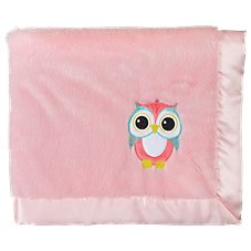 Bass Pro Shops Owl Applique Satin-Trimmed Baby Blanket