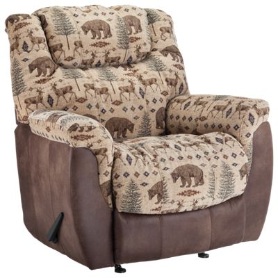 Lane Furniture North Country Rocker Recliner Deer Bear Bass Pro Shops