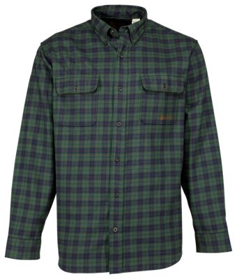 Beretta Double-Pocket Plaid Flannel Shirt for Men by