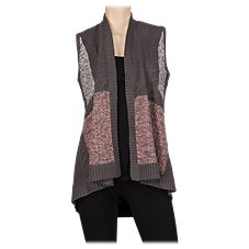 Bob Timberlake Patchwork Open-Front Vest for Ladies