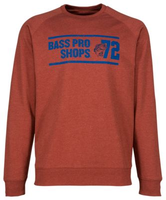 Bass Pro Shops French Terry Crew Sweatshirt for Men - Red - L