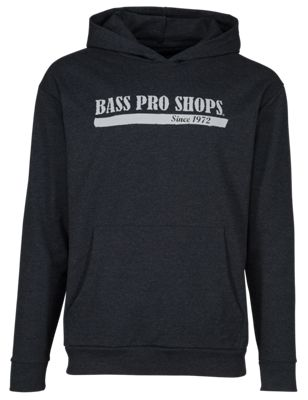 Bass Pro Shops French Terry Hoodie for Men - Charcoal - M