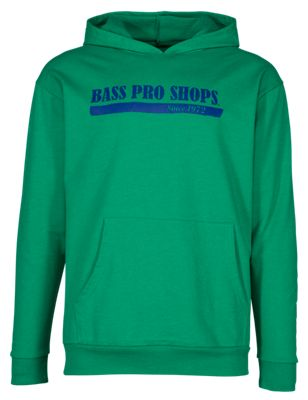 Bass Pro Shops French Terry Hoodie for Men - Green - XL