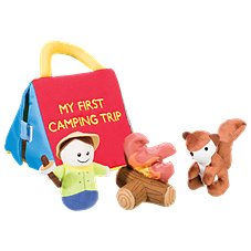 Bass Pro Shops My First Camping Trip Interactive Baby Talk Plush Playset for Babies
