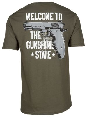 FloGrown Welcome to the Gunshine State V2 T-Shirt for Men - Olive - 3XL