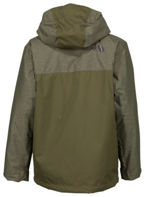 e7007201372f The North Face Chimborazo Triclimate Jacket for Boys Burnt Olive Green  Heather L