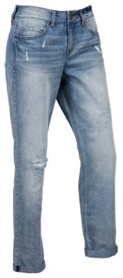 Bob Timberlake Embroidered Girlfriend Jeans for Ladies - Light Wash - 4