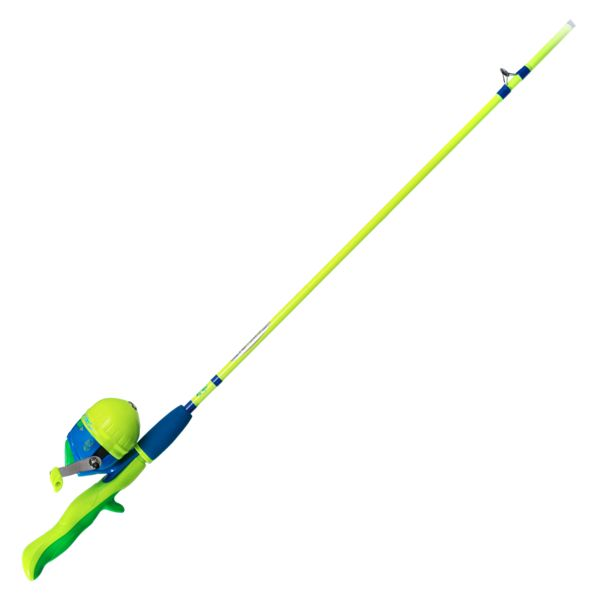 Bass Pro Shops Fish Stiks Spincast Rod and Reel Combo - Blue/Chartruese