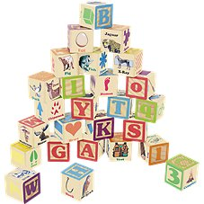 Bass Pro Shops Wooden ABC Block 26-Piece Set