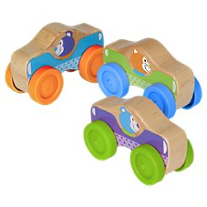 Melissa & Doug First Play Animal Stacking Cars Set for Babies and Toddlers