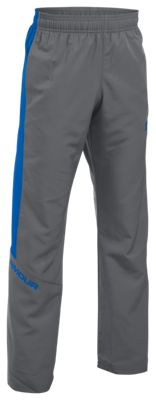 Image of Under Armour Main Enforcer Woven Pants for Boys  Graphite/Ultra Blue  XS