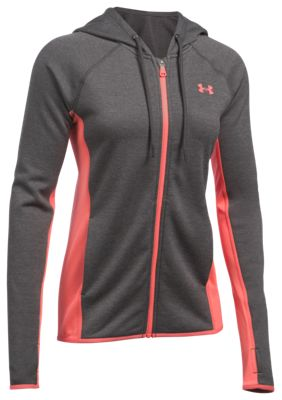59009b3d3 Under Armour Storm Armour Fleece Full Zip Twist Jacket for Ladies Carbon  Heather XL