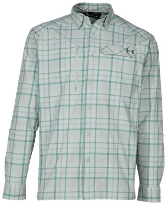 807b5ed410 Under Armour Fish Hunter Plaid Long Sleeve Shirt for Men Olive ...