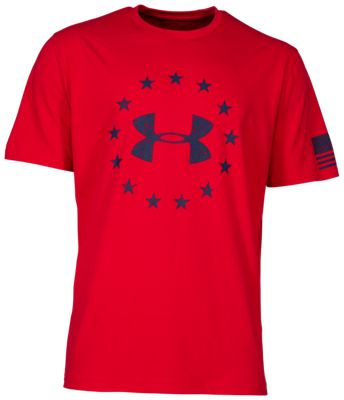 b5176198d Under Armour Freedom Tactical Shirt for Men Red 2XL