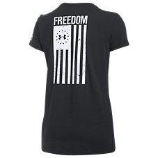 Under Armour Freedom Flag Tactical T-Shirt for Ladies