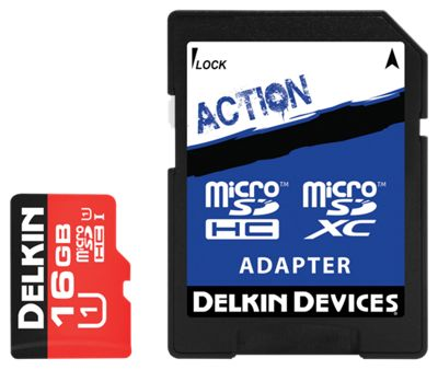 Delkin Action Hyperspeed microSD Memory Card - 16GB