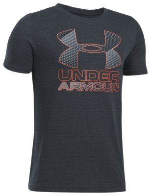 b01d1c20 Under Armour Big Logo Hybrid T Shirt for Boys AnthraciteSteel XS