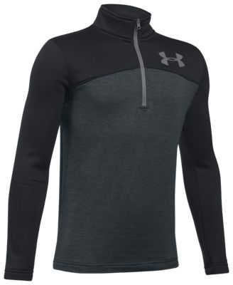 Under Armour Expanse 1/4-Zip Long-Sleeve Shirt for Boys - Black/Anthracite - S