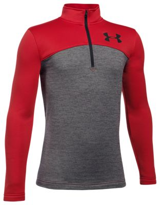 Under Armour Expanse 1/4-Zip Long-Sleeve Shirt for Boys - Red/Graphite - XL