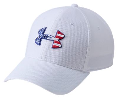 8158b163b35 Under Armour Freedom Blitzing Cap for Men White LXL