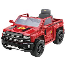 Chevrolet Rollplay 6V Red Chevy Silverado Z71 Sport Edition Ride-On Truck for Kids Image