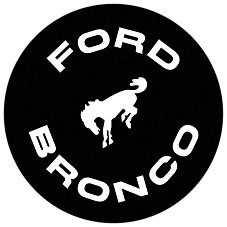 Open Road Brands Ford Bronco Die-Cut Embossed Tin Sign