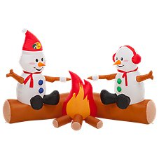Bass Pro Shops Campfire Snowmen Inflatable