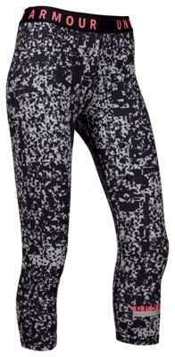 3eb4b562e2 Under Armour Printed Favorite Cropped Pants for Ladies SteelCoral Cove M