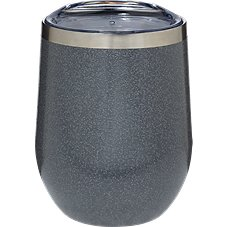 PURE Drinkware Hammered Stainless Steel Stemless Wine Glass