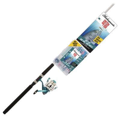 Shakespeare Catch More Fish Surf/Pier Spinning Rod and Reel Combo - Model CMF2SURFPIER8FT