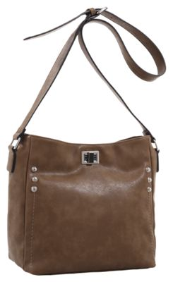 Emperia Ali Concealed Carry Lock and Key Crossbody Bag – Brown