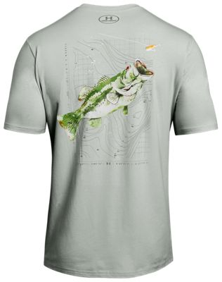 6ac43acaf7 Under Armour Destination Bass Fishing Graphic T Shirt for Men Olive ...