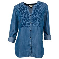 Bob Timberlake Embroidered Chambray Shirt for Ladies