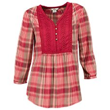 Bob Timberlake Plaid Peasant Blouse for Ladies