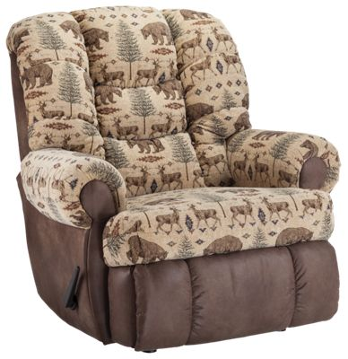 Lane Furniture Comfortking Deer Bear Granddaddy Rocker Recliner