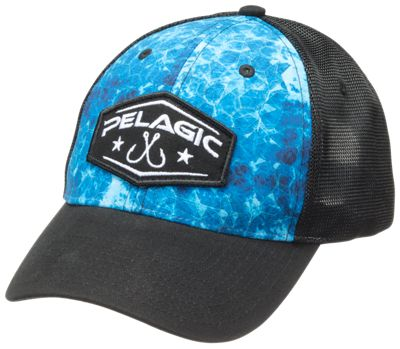 1d97d84569ee1 Pelagic Offshore Hexed Cap BlackHexed Blue