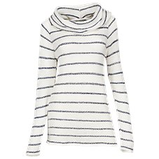 Natural Reflections Cowl Neck Stripe Sweater for Ladies