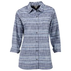 Natural Reflections Stripe Chambray Shirt for Ladies
