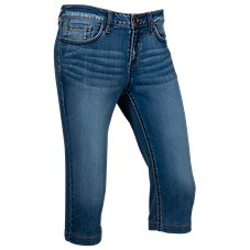 Natural Reflections Stretch Denim Capris for Ladies