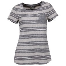 Natural Reflections Stripe Pocket T-Shirt for Ladies
