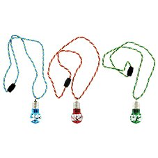 Holiday Lights Multi-Colored Flashing Necklace