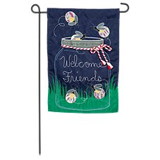 Evergreen Firefly Welcome Garden Flag